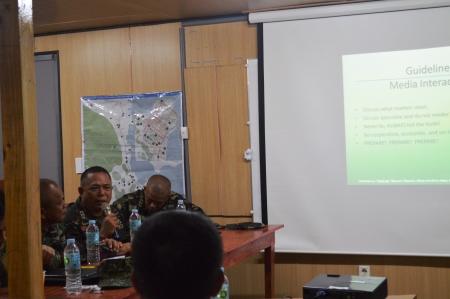 Task Force IO Grp Cmdr presented the  updated activities of the JTG-IO to BGEN WILSON M LEYVA AFP, JTF Cmdr during the Coordina